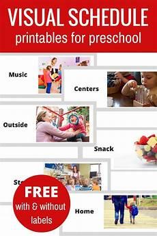 free printable visual schedule for preschool preschool schedule daily schedule preschool