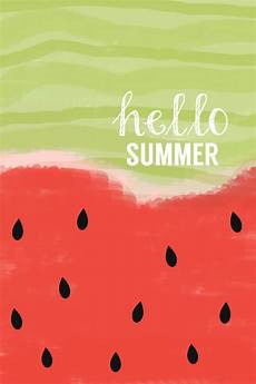 Hello Wallpaper Iphone by Watercolor Summer Print Hello Summer Watermelon