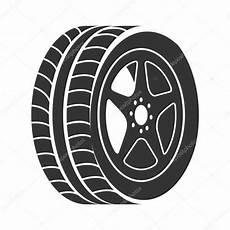 Tire Wheel Car Vector Graphic Icon Stock Vector