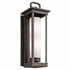 kichler 49499rz rubbed bronze south hope 2 light outdoor wall sconce lightingdirect com