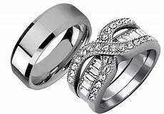 3 pcs his stainless steel wedding engagement couple matching ring band ebay