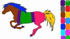 Belajar Warna Kuda Untuk Anak Anak Melatih Mengambar