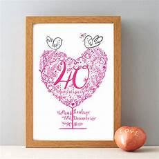 40th Ruby Wedding Anniversary Gifts