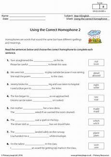 spelling worksheets homophones 22404 worksheet using the correct homophone 2