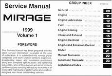 1999 mitsubishi mirage wiring schematics 1999 mitsubishi mirage repair shop manual set original
