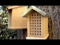 mason bee house plans choosing a mason bee house youtube