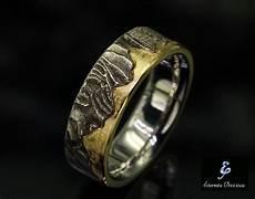 7mm unique mens wedding band rustic wedding ring men s