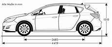 Opel Astra J Abmessungen Technische Daten L 228 Nge