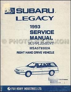online car repair manuals free 1995 subaru legacy regenerative braking 1993 subaru legacy right hand drive shop manual supplement rhd repair service ebay