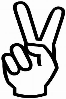 peace zeichen finger victory sign silhouette free stock photo domain