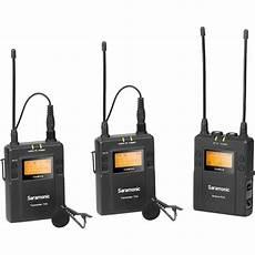 Saramonic Uwmic9 Wireless Lavalier Lapel Microphone by Saramonic Uwmic9 2 Person Mount Wireless