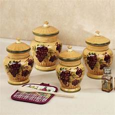 canisters kitchen decor picture of ceramic grapes canister sets for kitchen