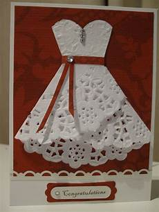 red wedding card with a bit of bling for a modern feel