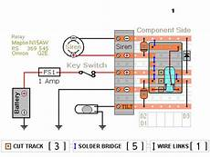 relay based motorcycle alarm circuit diagrams circuitsan youtube