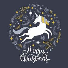 christmas illustration with unicorn merry christmas stock illustration download image now istock