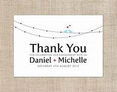 thank you card template engagement printable diy engagement thank you card custom by