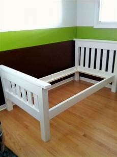 white finished the simple bed diy projects