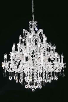 clear bohemian chandelier in chrome plated metal