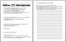 food inc video worksheet by biology zoology forensic