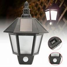 solar powered pir motion sensor security wall light