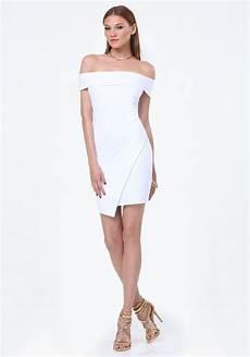 lyst bebe shoulder dress in white
