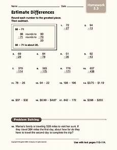 estimating difference worksheets for grade 3 8287 estimate differences worksheet for 4th 6th grade lesson planet