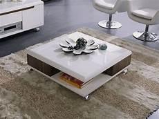 table basse carrée blanc laqué table basse carr 233 e quot lotus quot mdf laqu 233 blanc melamine