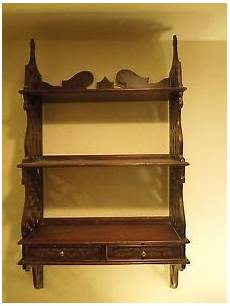 vintage dark gothic style victorian style wall shelf with drawers ebay