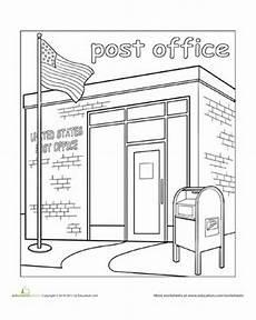 coloring pages places in town 18038 paint the town post office oficios y profesiones actividades y maquetas