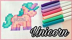 Bilder Zum Nachmalen Pixel How To Draw Pixel Unicorn Einhorn Malen Crayola