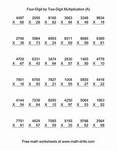 multiplication worksheets one digit by two digits 4536 multiplying four digit by two digit 36 per page a