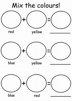 primary colors printable worksheets 12993 simple primary colour mixing worksheet teaching resources