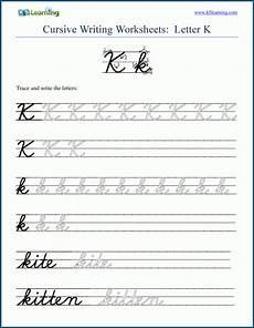 handwriting worksheets k5 21452 cursive writing letter k k5 learning