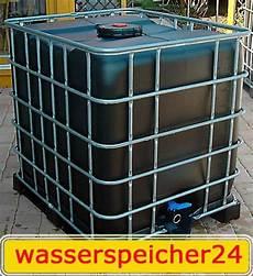1000 l ibc container schwarz tonne zisterne wasserfass