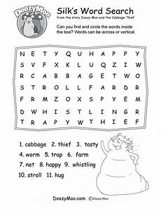 worksheets word search 18508 doozy moo and the cabbage thief story with a moral lesson