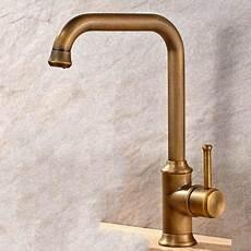 kitchen faucets uk antique brass finish single handle swivel kitchen faucet t02001 brass kitchen faucet antique