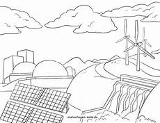 Malvorlagen Energy Coloring Page Energy Production Energy Environmental