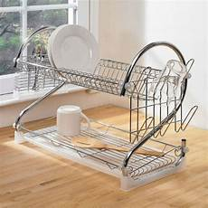 Bakeey Dish Drying Rack Stainless Steel by 2 Tier Dish Drainer Stainless Steel Chrome Kitchen Rack