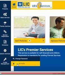 how to register online at lic e services