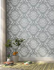 Blooms Wall Stencil Damask Wall Stencil For Diy