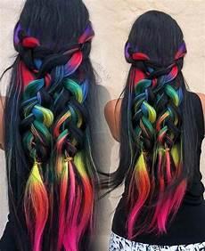 bright hair colors on pinterest bright hair rainbow hair and 23 rainbow hair ideas for a bold change up hair tutorial simple bridesmaid hair shot hair styles