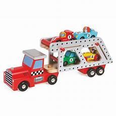 jeux de camion transporteur camion transporteur 4 voitures story jouet pour enfant janod