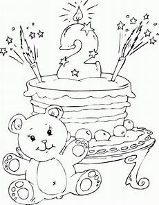 Malvorlagen Age Cake Birthday Cake Age 2 Coloring Page Coloring động