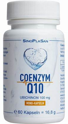coenzym q10 ubichinon mono kapseln 100 mg 60 st