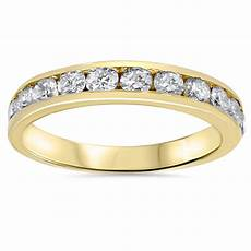 1ct diamond wedding ring 14k yellow gold ring band ebay