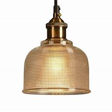 one light prismatic glass shade industrial living room