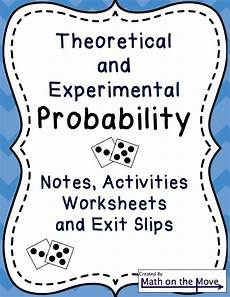 independent probability worksheet 6th grade 6031 probability theoretical experimental notes activities practice 7 sp c 5 my