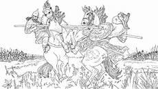 Pferde Malvorlagen Gratis Kf Zu Pferde Ausmalbild Malvorlage Schlachten