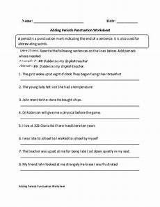 punctuation worksheets for grade 1 with answers 20770 adding periods punctuation worksheet punctuation worksheets punctuation worksheets