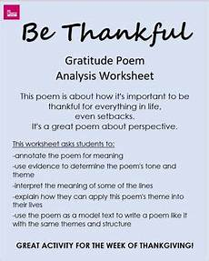 poetry meaning worksheets 25323 quot be thankful quot poem analysis worksheet poetry for middle and high school